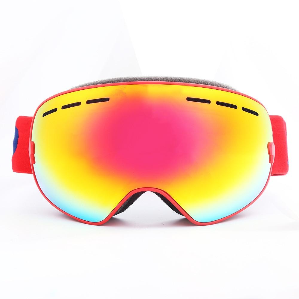 Nouveau Vélo Ski Lunettes Haute-définition Cadre Double-couche Anti-brouillard Hommes Et Femmes Myopie Verres Sphériques équipement