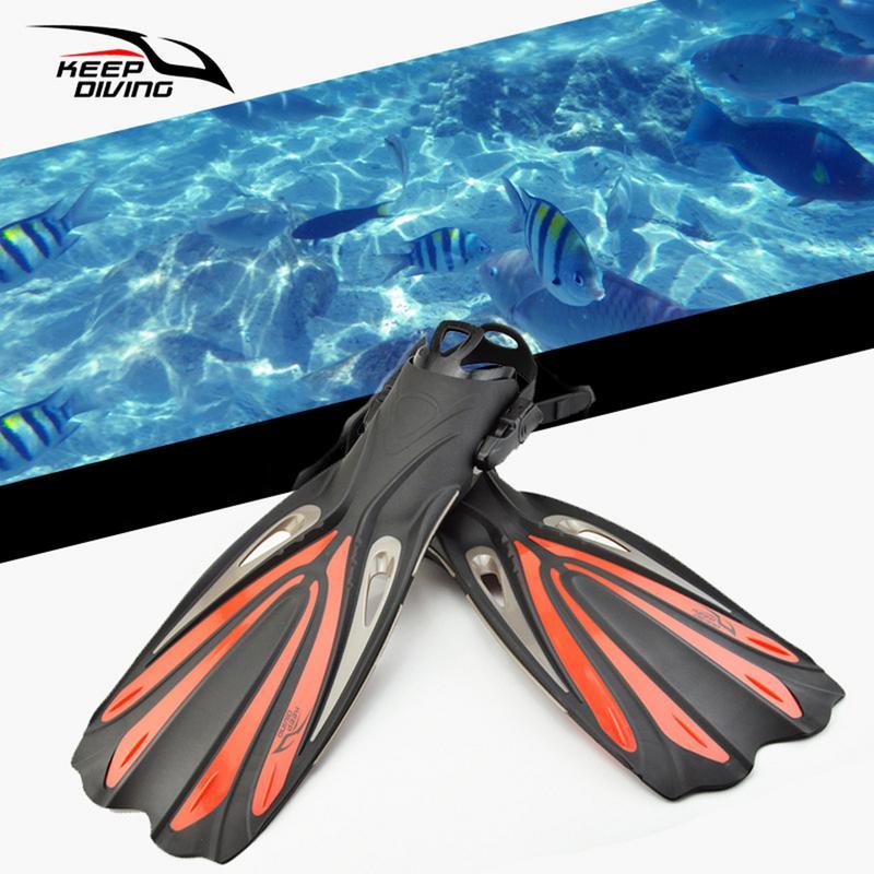 Adulte Réglable Long Palmes Plongée Piscine De Plongée De Plongée Professionnelle Équipe Ouvert Plongée Snorkeling Palmes