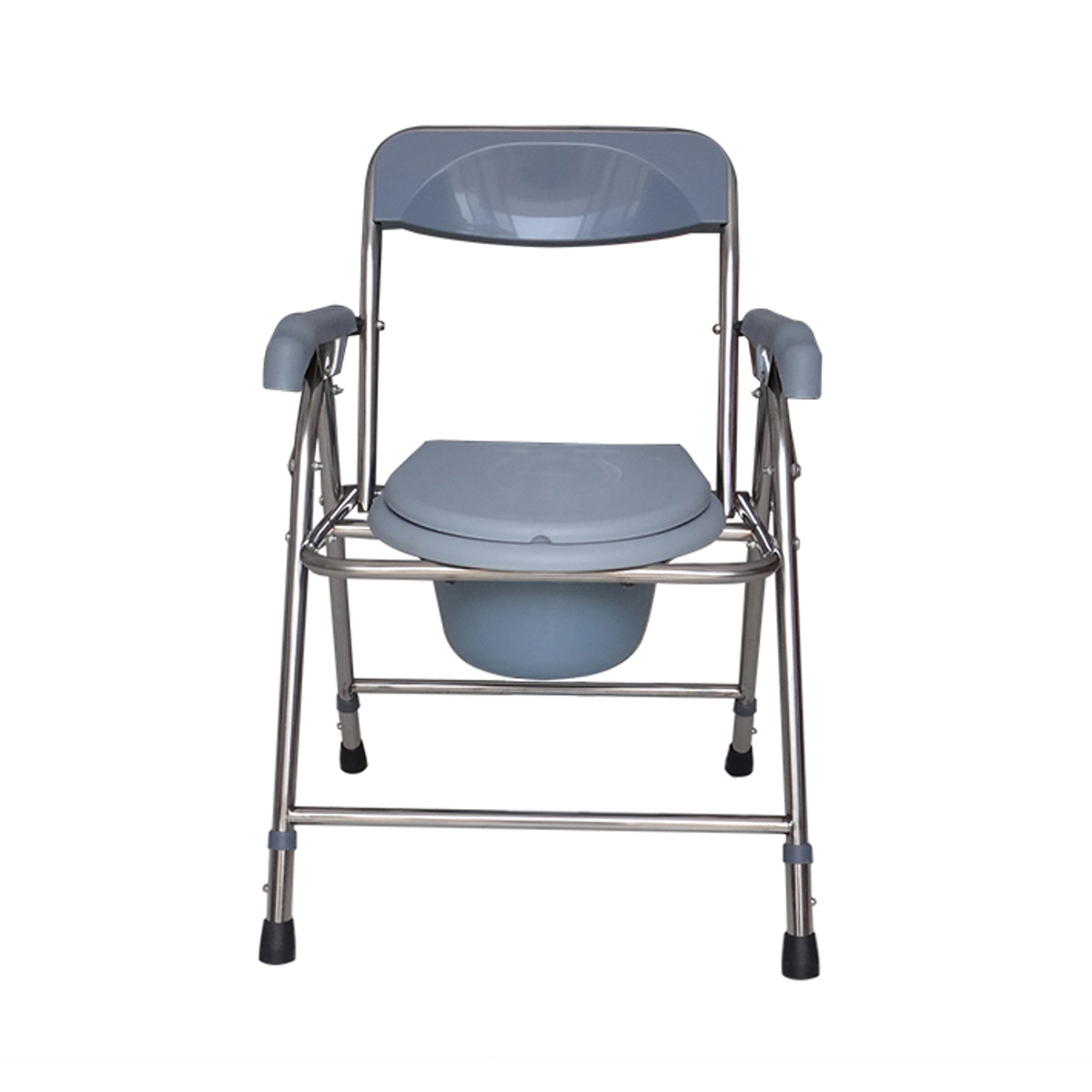 Bedside Commode Chair Folding Bedside Commode Chair Heavy Duty Commode Toilet Chair Toilet Safety Medical Commode Old Man Pregnant Woman Toilet Chair