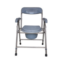 Folding Bedside Commode Chair Heavy Duty Commode Toilet Chair Toilet Safety Medical Commode Old Man Pregnant Woman Toilet Chair(China)