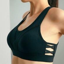 167efde568c3f Explosion Models Cross-Gather Back Sports Bra Moisture Absorption Sweat  Yoga Underwear High Strength Fitness