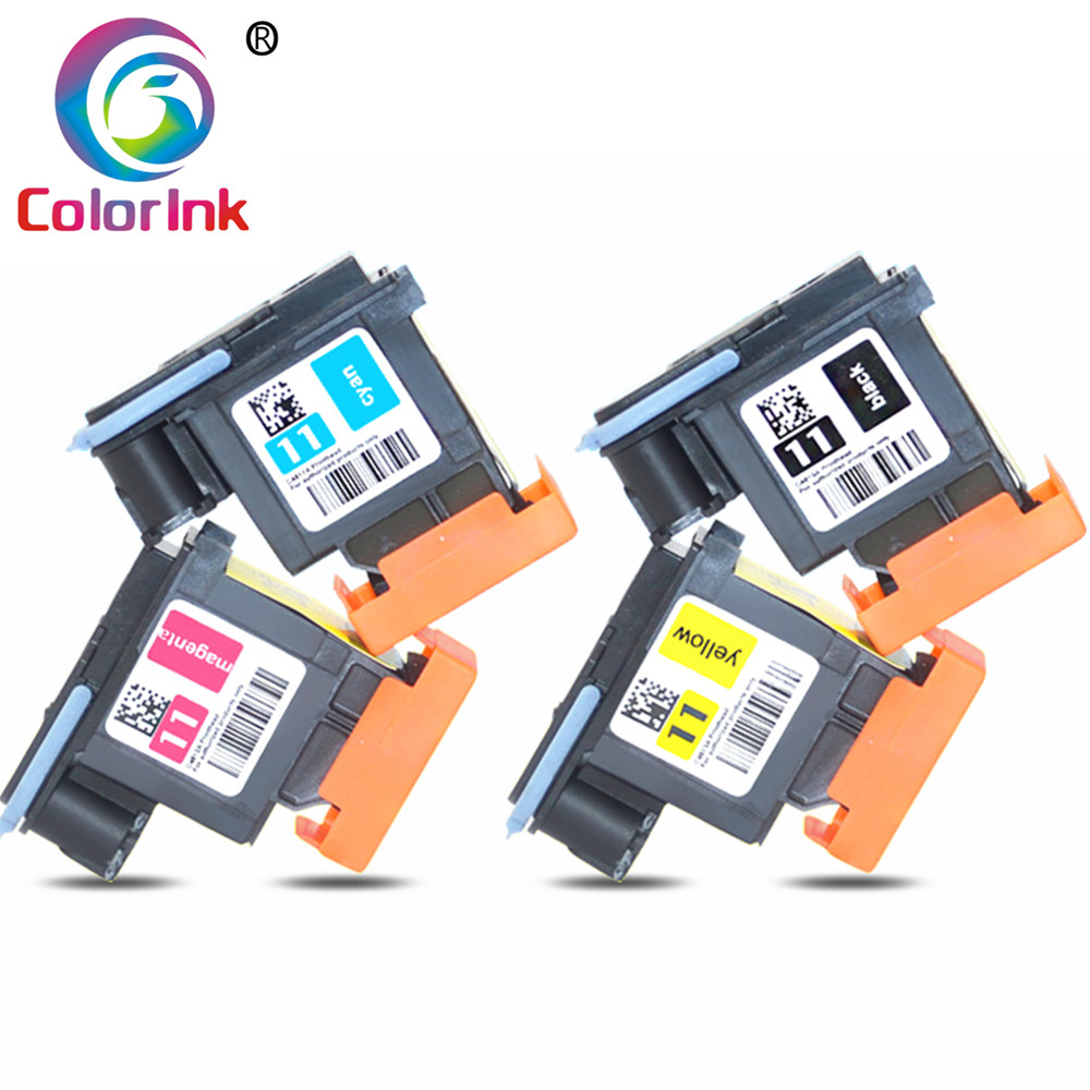 4PK ColorInk for HP 11 Printhead 11 Print head C4810A C4811A C4812A C4813A for HP 70 100 110 111 120 500 510 500PS 800 815 820