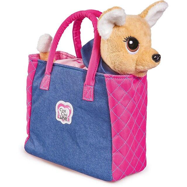 Плюшевая собачка Simba Chi-Chi love Городская мода с сумочкой и стикерами, 20 см