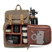 바틱 카메라 가방 캔버스 카메라 배낭 방수 다기능 야외 내마 모성 카메라 배낭 캐논/소니/니콘에 대한