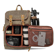 Batik bolsa de câmera de lona mochila impermeável multi funcional outdoor wear resistant câmera mochila para canon/sony/nikon
