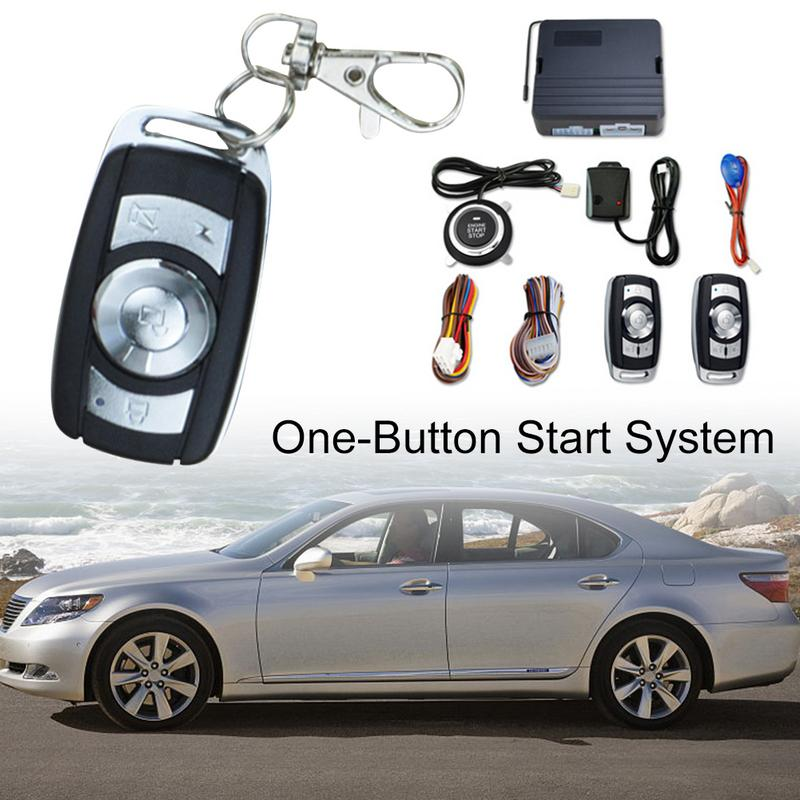 12 V Intelligent un bouton système de démarrage alarme de voiture de sécurité passif sans clé entrée à distance démarrage à distance automatique verrouillage Central Push