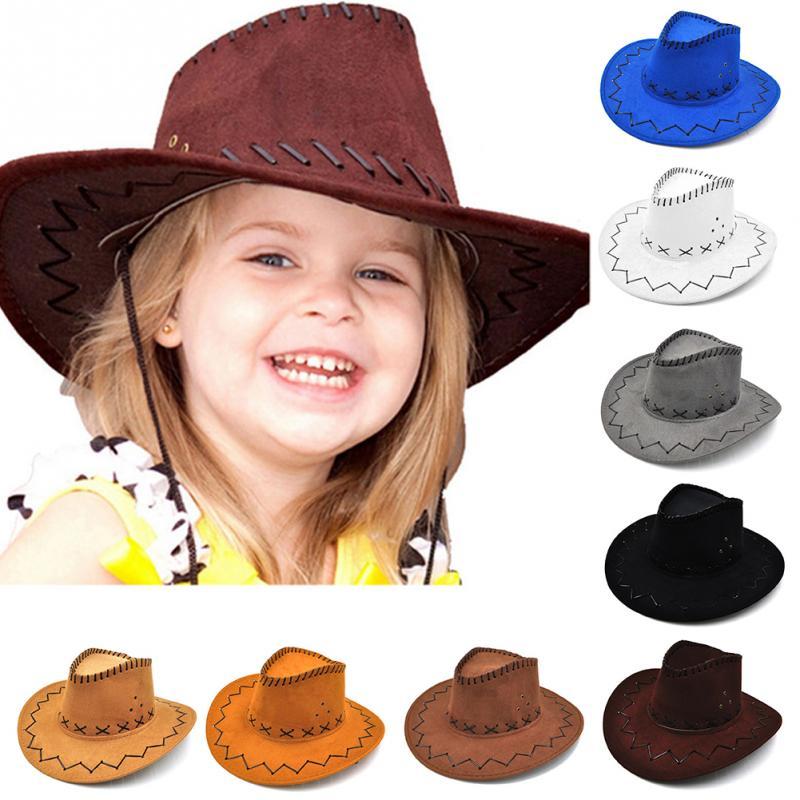 Boys Girls Kids Straw Western Cowboy Cowgirl Hat Stars Sun Cap Applique Headwear