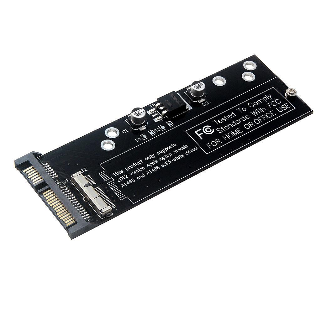 Para macbook ar a1466 a1465 a1398 a1425 ssd para sata adaptador slot para cartão