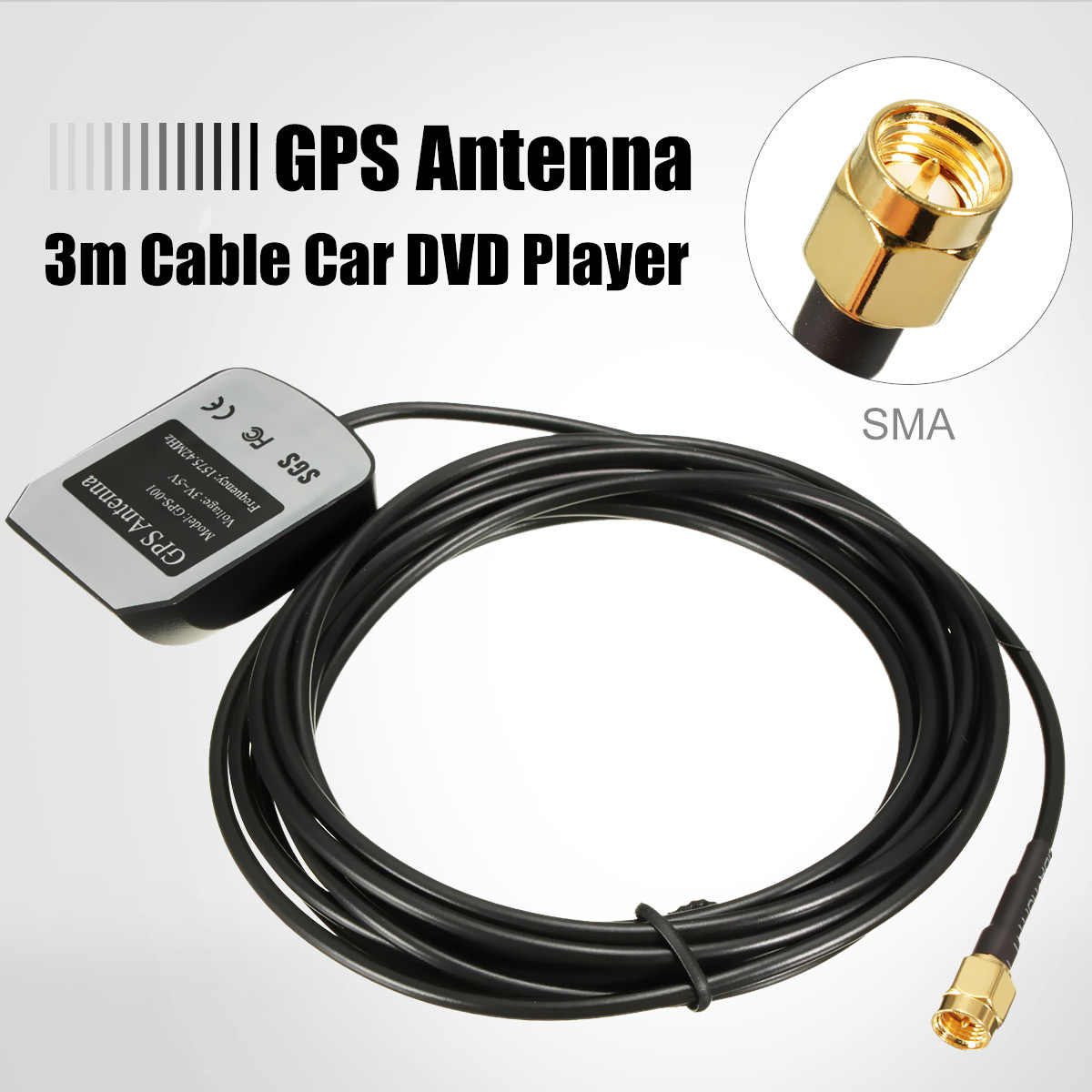 3M Auto Gps Antenne Gps Ontvanger Auto Gps Actieve Remote Antenne Antenne Adapter Connector 1575.42Mhz Sma Connector
