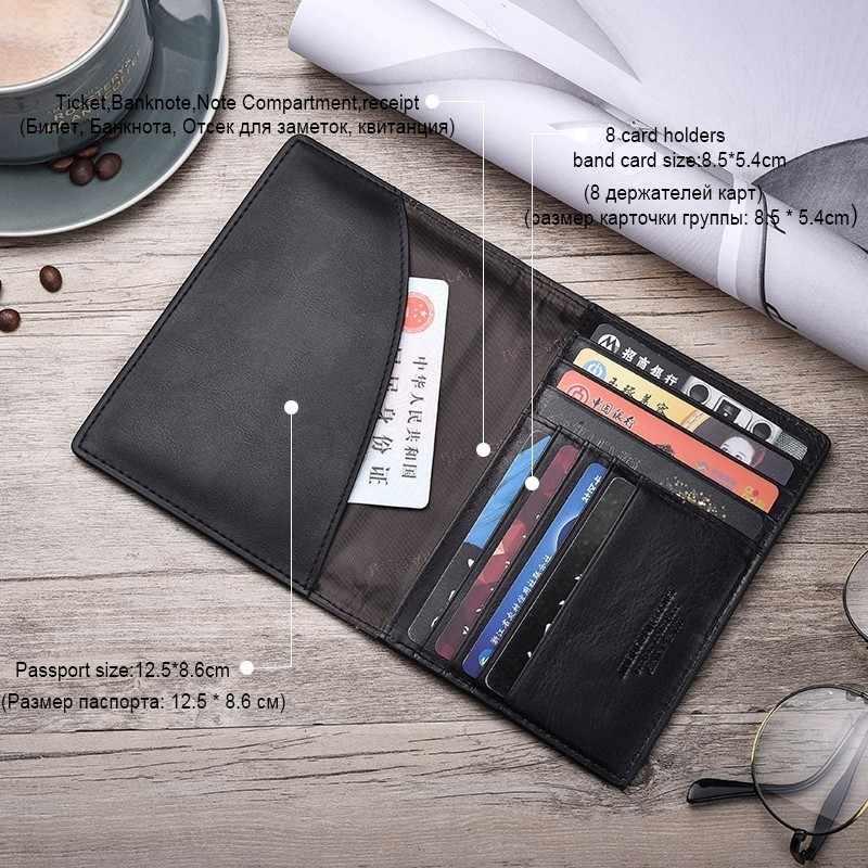 16 бит чехол для карт Кожаный чехол для паспорта ID визитница дорожный кошелек для кредиток для мужчин кошелек для вождения Лицензия тонкие кошельки