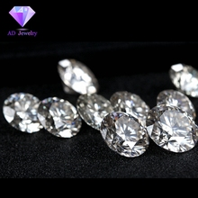 1 Carat /Bag GH color 1.30MM With 4mm Round White Moissanite stone diamond Loose moissanite price