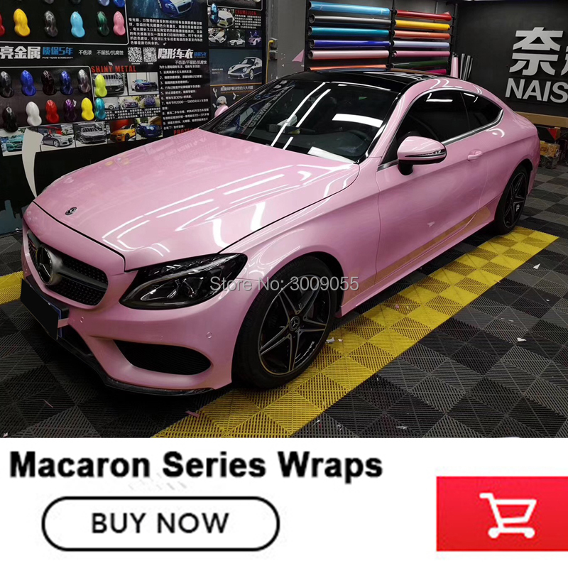 China supply Macaron car vinyl wrap film low initial tack adhesive Multiple colors High grade polymeric