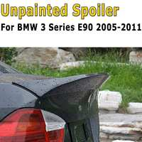 Rear Trunk ABS Boot Lip Lid Spoiler M Sports Matte Black Exterior Rear Roof Wings Trunk Lip For BMW 3 Series E90 2005 2011