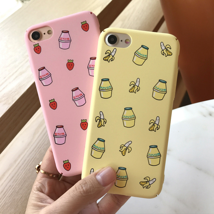 Banana strawberry milk phone case for iPhone 8 7 6 plus – Cute Beauty girls matte case Mobile Phone Accessories Phone Cases & Cover d92a8333dd3ccb895cc65f: For iPhone 6|For iPhone 6 plus|For iPhone 6S|For iPhone 6S Plus|For iPhone 7|For iPhone 7 Plus|For iPhone 8|For iPhone 8 Plus|For iphone X|For iphone XR|For iphone XS|For iphone XS MAX