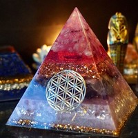 AURA REIKI Orion/Ogan Energy Pyramid Orgonite Energy Converter Emotional Relationships Increase The Frequency Of Love Gift