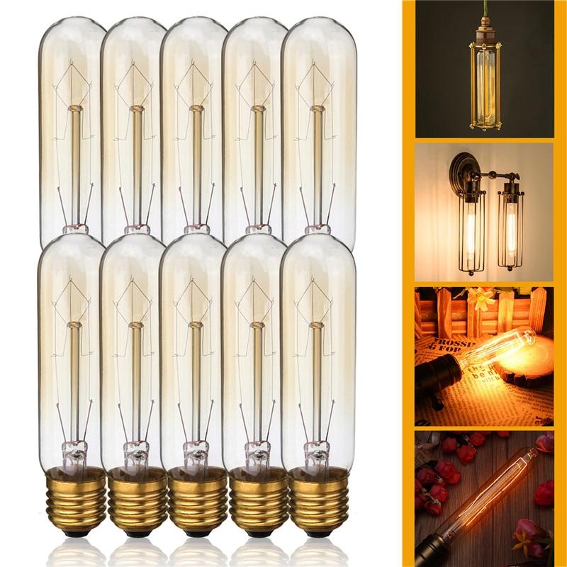 T10 E26 E27 4w Led Vintage Antique Filament Light Bulb: 1PCS Vintage LED Edison Bulbs 60W Warm White 2300K T10 E27