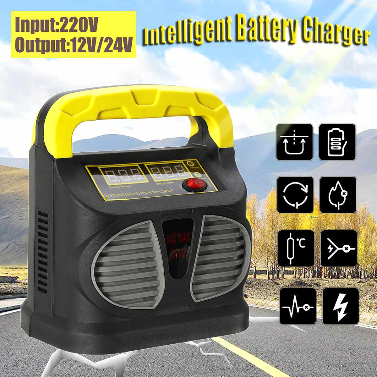 Back To Search Resultshome Intellective 220v Input 12/24v Output Portable Automatic Car Battery Charger Intelligent Fast Power Charging Lead Acid Digital Lcd Display Hot Sale 50-70% OFF