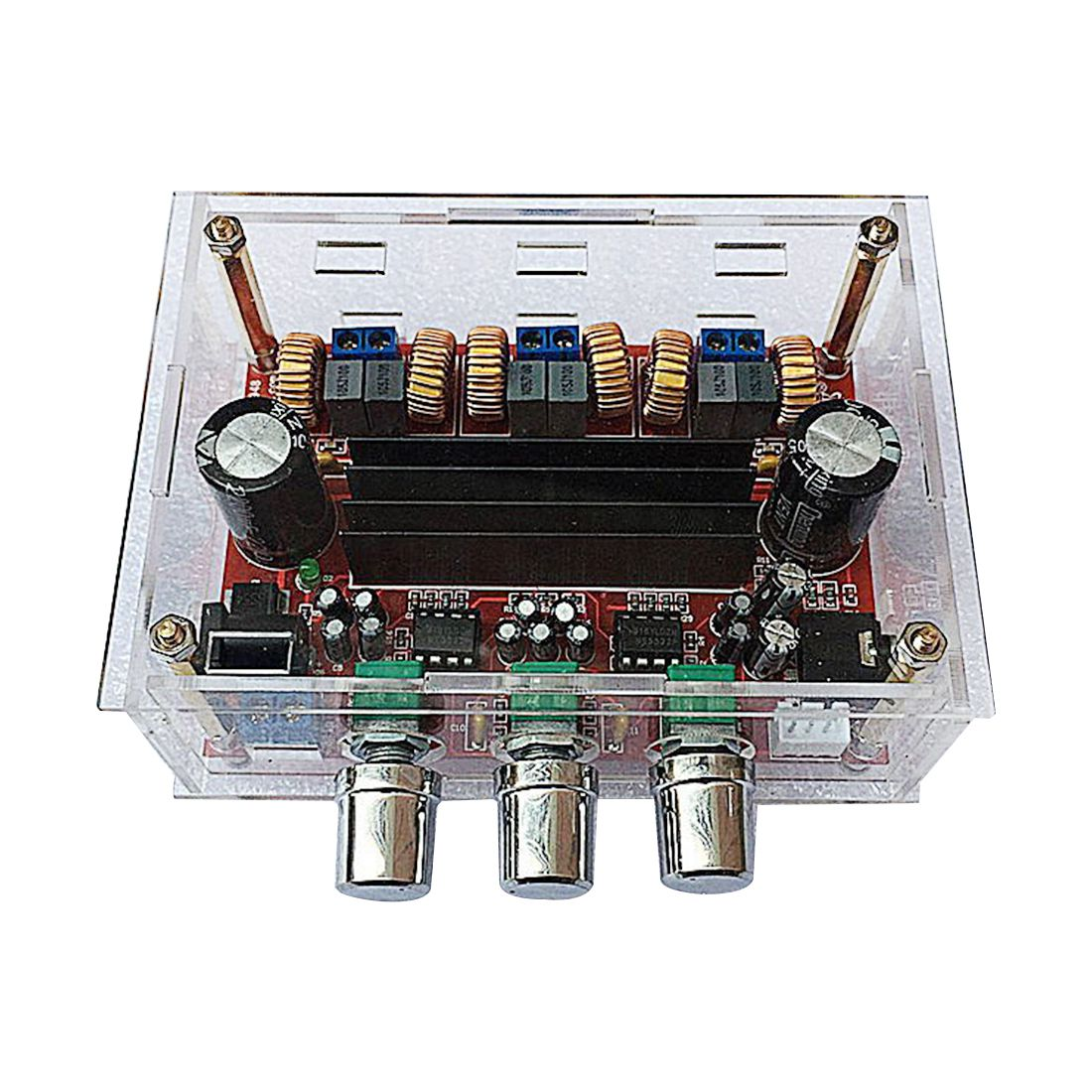 FULL-DC12-24V <font><b>TPA3116D2</b></font> <font><b>2.1</b></font> Channel Digital <font><b>Subwoofer</b></font> Power Amplifier Board+case image