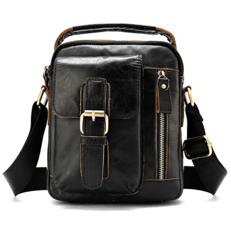 Fashion Solid Briefcase Men Leather Crazy Horse Small New Elegant Mens Shoulder Bags  High Quality Mens Messenger Bags CausalFashion Solid Briefcase Men Leather Crazy Horse Small New Elegant Mens Shoulder Bags  High Quality Mens Messenger Bags Causal