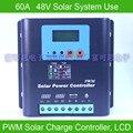 60А 48В ШИМ Контроллер заряда на солнечной батарее  с ЖК-дисплеем Напряжение и емкость батареи  высокое качество дисплей зарядки для Решетки Pv...
