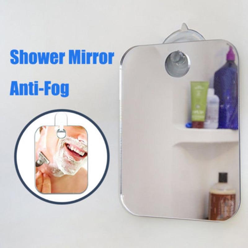 1 X Deluxe Anti Fog Free Shaving Shower Mirror Fogless Bathroom Wall