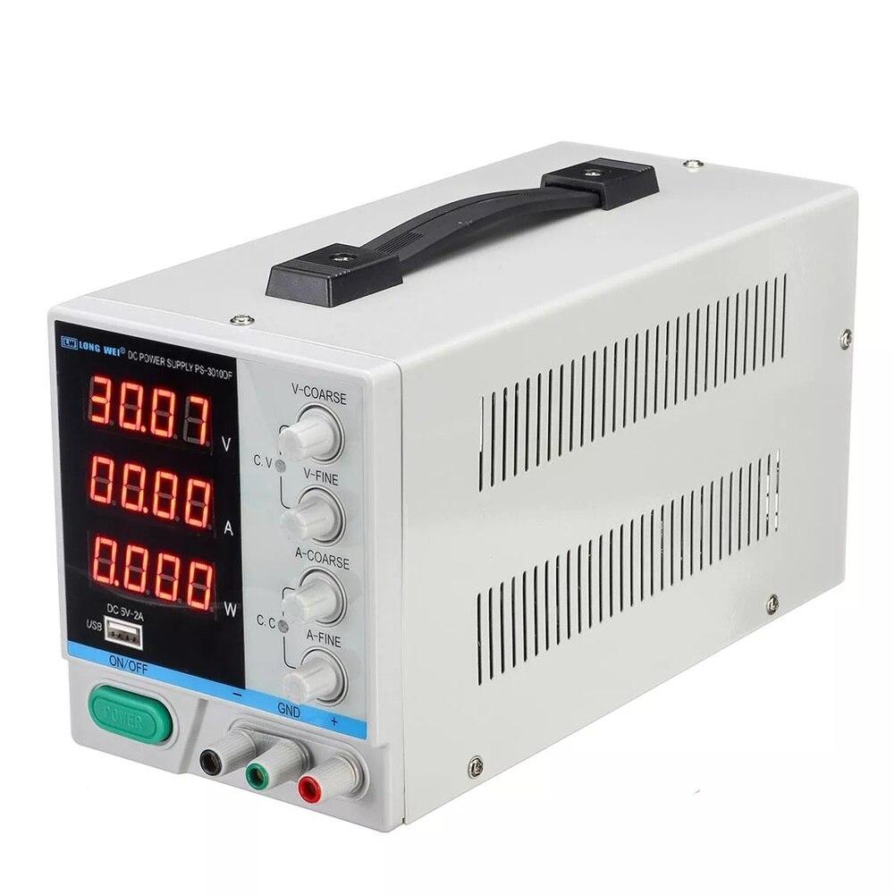Mini DC tension courant alimentation régulateur de tension 220V 110V entrée 30V 10A réglable Led affichage numérique laboratoire alimentation