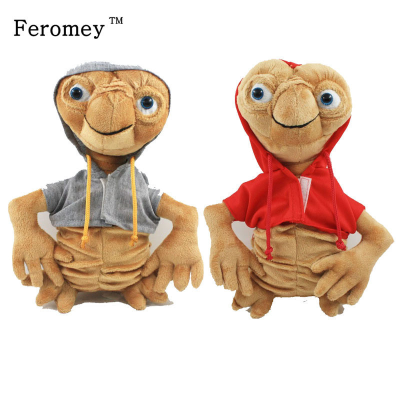 Kawaii E.T Plush Toys 22cm ET The Extra-Terrestrial E.T Soft Stuffed Doll Toys With Cloth Children Kids Toys Christmas Gift
