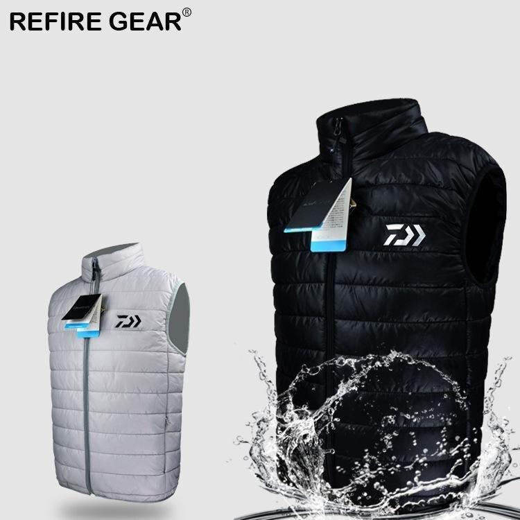 Brilliant Refire Gear Vest Winter Autumn Outdoor Down Vest Sport Sleeveless Waterproof Clothing Warm Hunting Fishing Hiking Down Coat