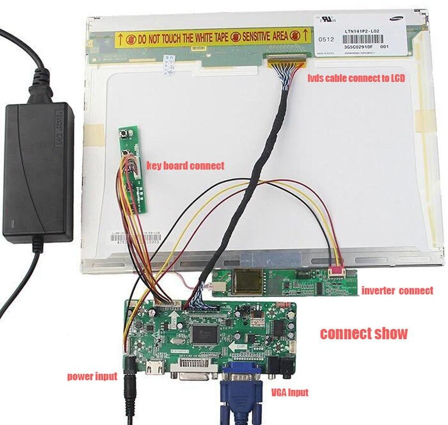 "LCD Controller Board Converter Kit for 17/"" 1440X900 LTN170X2-L03 HDMI+DVI+VGA"