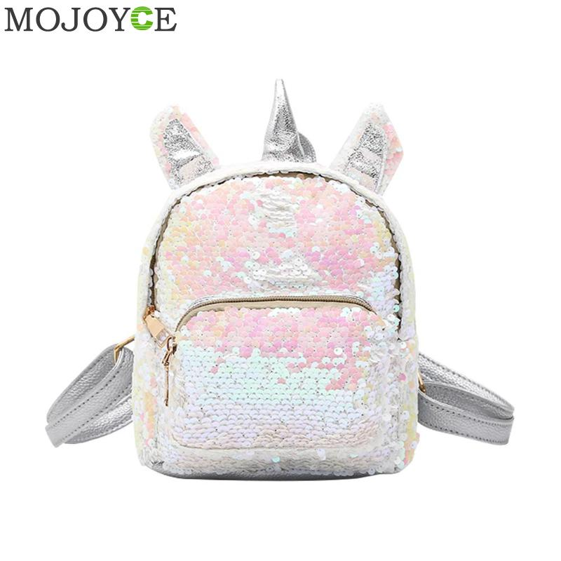 New Women Sequins Backpack Cute Girl Schoolbags For Teenage Student Travel Satchel Female mochila de couro Packpack School Bag