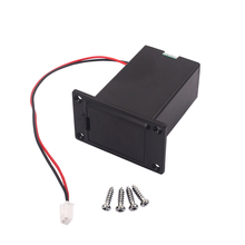 Flat Mounting Black 9v Battery Case Box Compartment Cover with 4 Screws for Ukulele Guitar Bass Pickup