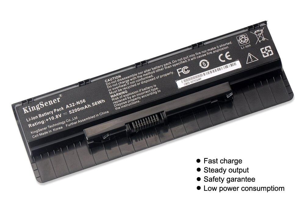 10,8 V 5200 mAh Corea celular nuevo A32-N56 batería para ASUS N46 N46V N46VJ N46VM N46VZ N56 N56V N56VJ N56VM n76 N76VZ A31-N56 A33-N56 - 3