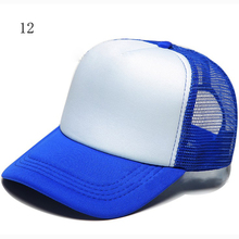 Baseball Adjustable Advertising cap Sport Fashionable Customized Sponge Caps Net Patchwork Summer Grid Breathable Hats