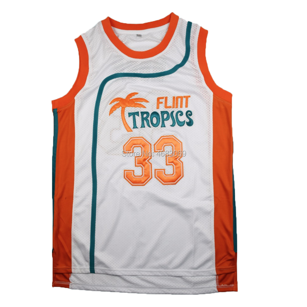 AIFFEE Jackie Moon Flint-tropics Cheerleader Costume #33  Semi-Pro  Movie Basketball Jersey 80s Uniform Cosplay Jersey  US STOCK