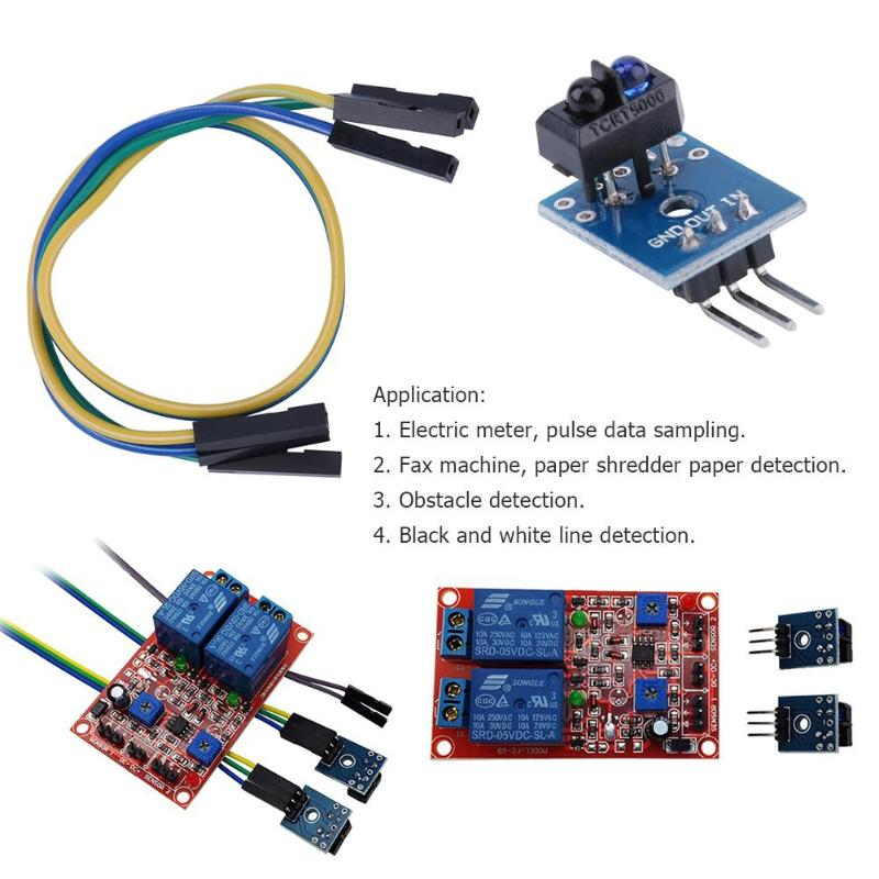 5/10Pcs TCRT5000 Infrared Reflective Sensor IR Photoelectric Switch Barrier LineTrack Module For Arduino Diode Triode Board 3.3V