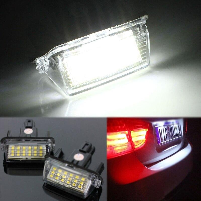 2Pcs 12V Error Free 18 LED License Number Plate Light Bulb Car Light Fit for Toyota Camry Yaris Hybrid Corolla Avensis SAI Noah