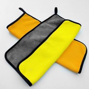 Image 5 - Größe 30*30 cm 800GSM Auto Waschen Mikrofaser Handtuch Auto Reinigung Trocknen Tuch Säumen Auto Pflege Tuch Super Saugfähigen auto Waschen Handtuch