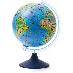Глобус Зоогеографический Globen, с подсветкой от батареек, 250мм.