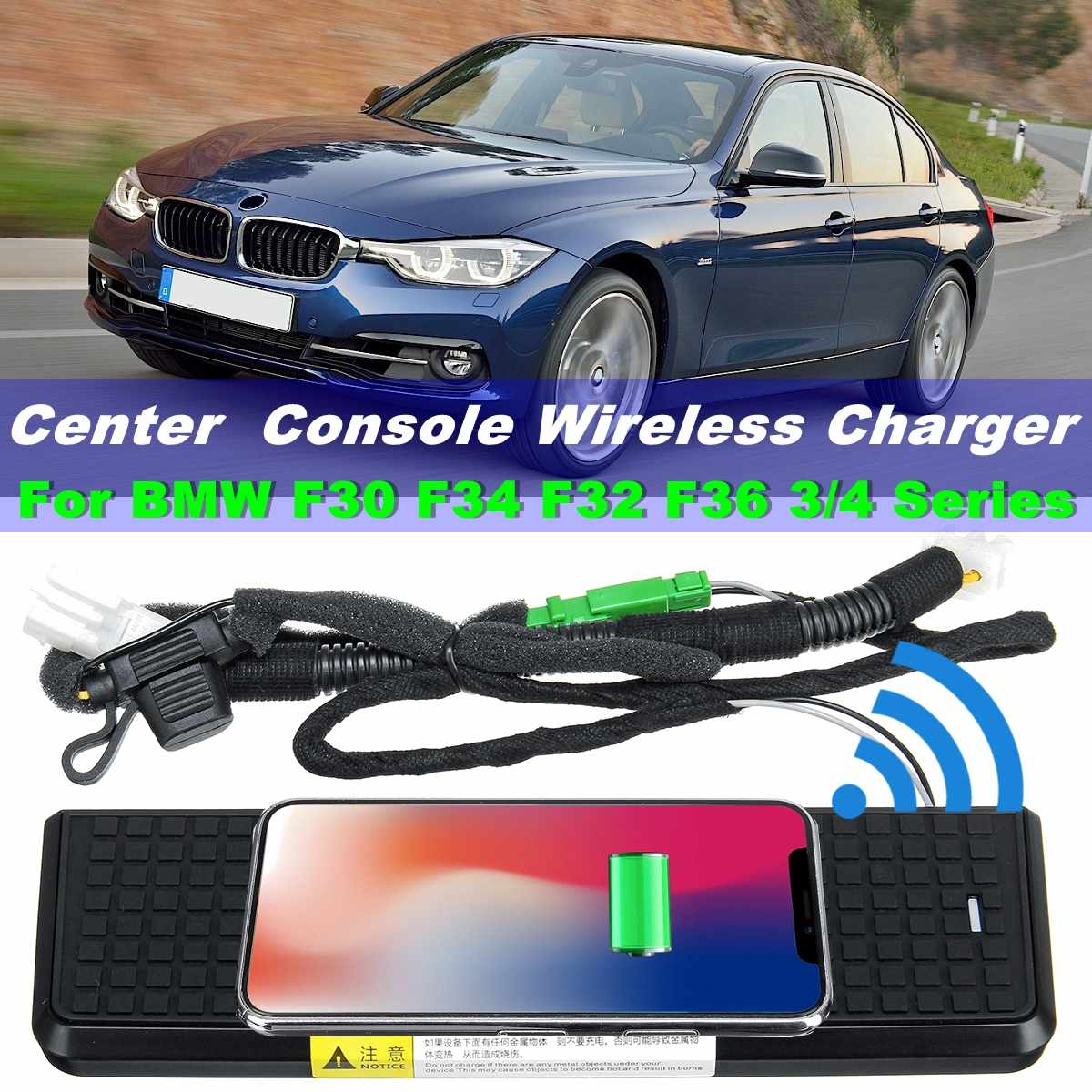 QI Wireless Charging Phone Charger Center Console For BMW F30 F31 F34 F32 F36 3 4 Series 2013-2018 LHD wireless charging toolQI Wireless Charging Phone Charger Center Console For BMW F30 F31 F34 F32 F36 3 4 Series 2013-2018 LHD wireless charging tool