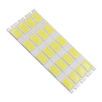 цена на 10pcs/lot new led cob strip 12v dc long bulb light cold white daytime running light cob led strip source for auto DIY light