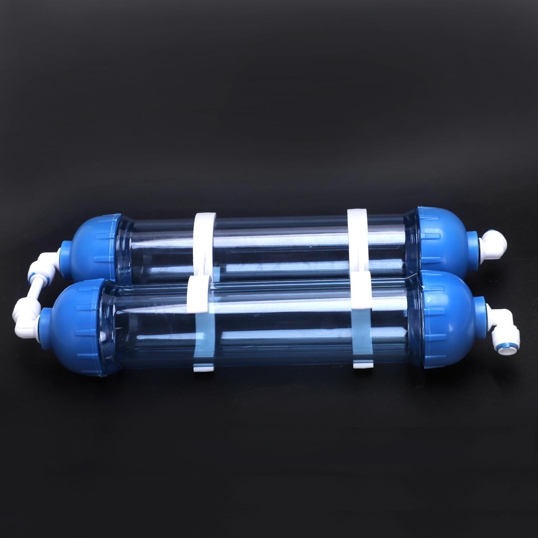 Image 4 - Water Filter 2Pcs T33 Cartridge Housing Diy T33 Shell Filter Bottle 4Pcs Fittings Water Purifier For Reverse Osmosis SystemWater Filter Cartridges   -