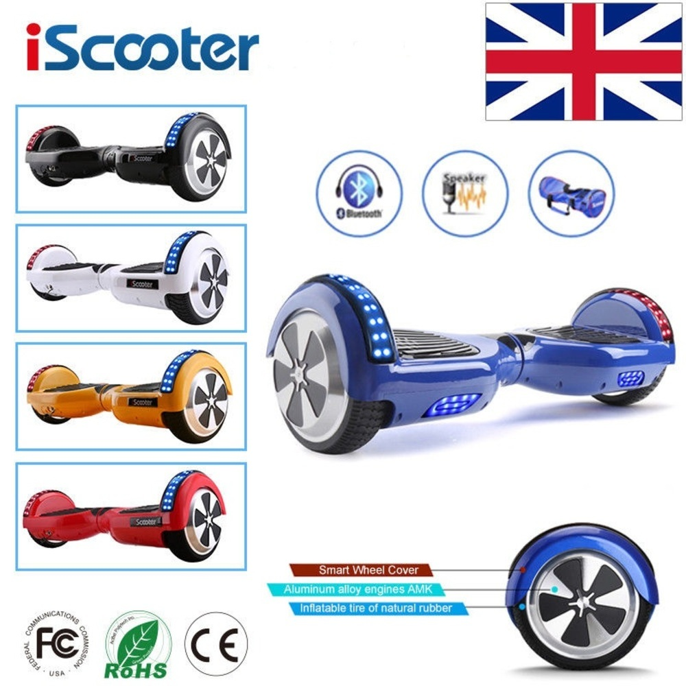 Iscooter Hoverboard 6.5 Inch Bluetooth Speaker Scooter Skateboard Self Balance Electric Adult Kid Ul 2272