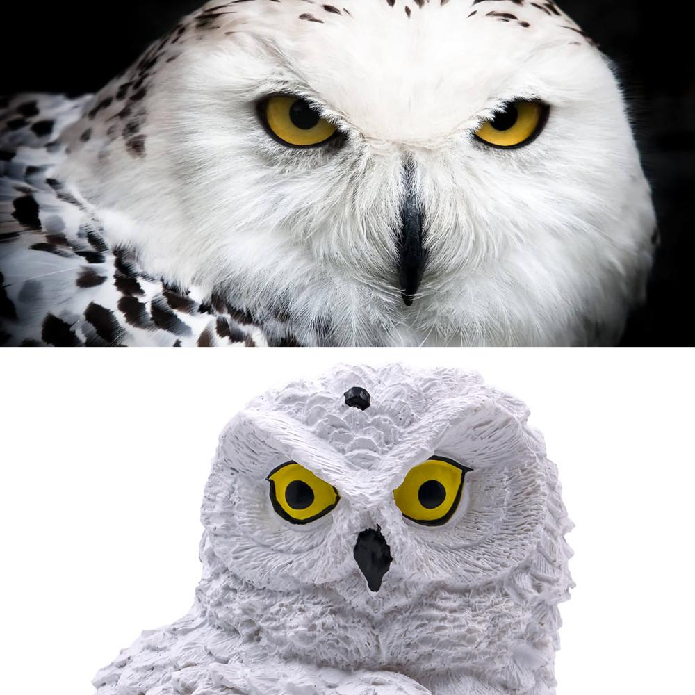 BRAND NEW WAVING SNOWY OWL GARDEN ORNAMENT