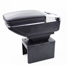 Universal car central container armrest box PU Leather auto car-styling central Store content box cup holder accessories for ford ecosport 2013 2017 car central container armrest box auto car styling central store content box cup holder accessori