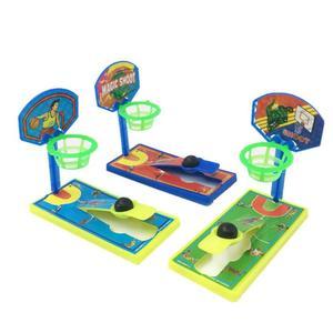 1 Mini máquina de tiro de mesa de baloncesto de bolsillo, descompresión antiestrés, juguete para niños, juegos interactivos padres e hijos