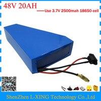 Hot sale 48V 1000W battery 48V 20AH triangle lithium battery pack 48v 20ah electric bike battery with bag +54.6V 2A charger