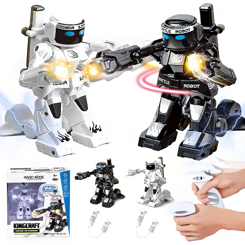 Hot Sales Battle RC Robot Simulation Sound And Light Body Sense Remote Control Toys Model Flexible Boxing And Movement Robots