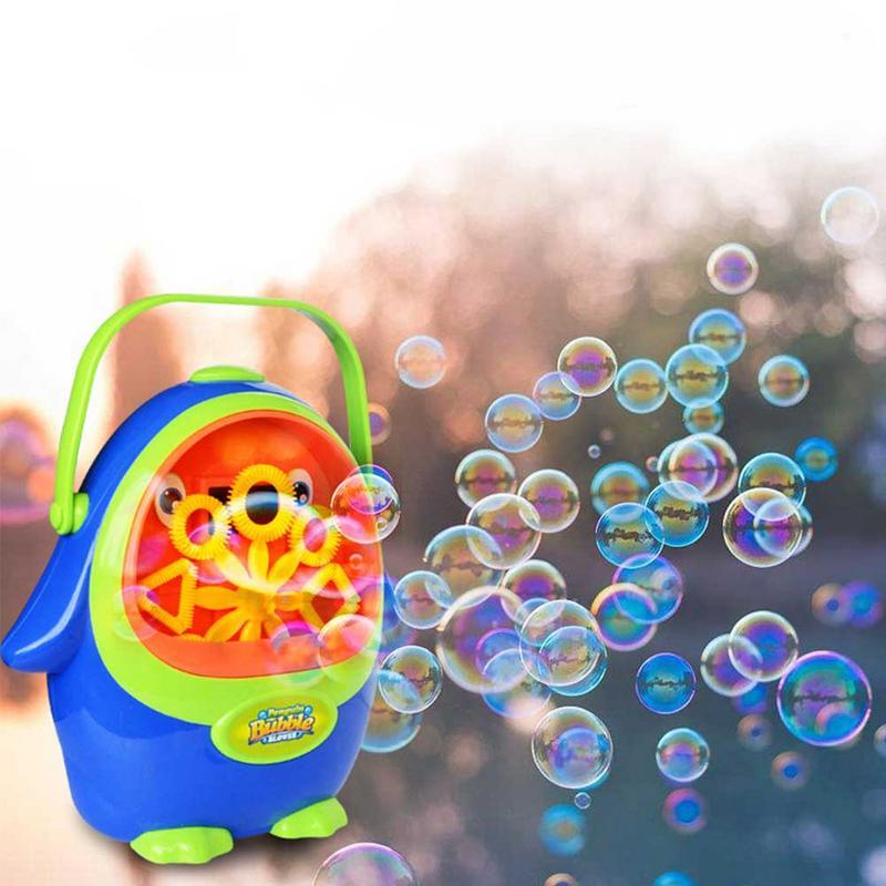 Kids Automatic Penguin Bubble Liquid Water Maker Bath Toys Electric Soaps Bubbles Blower Machine Toys For Childen Kids Wedding