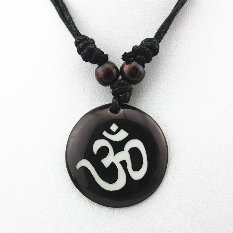 АУМ Ом индийский буддийский, Йога, Индия, Як, кость, резьба, амулет, подвеска, счастливый подарок, Этническая мода, ювелирные изделия MN578