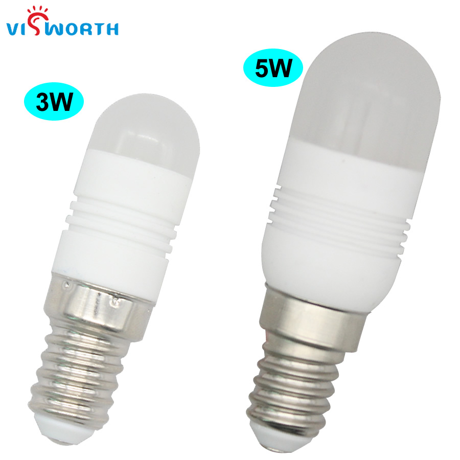 (6pcs/lot)<font><b>Mini</b></font> Ceramic Body <font><b>E14</b></font> <font><b>Led</b></font> Bulb 3w 5w Crystal <font><b>Lamp</b></font> SMD3014 24Pcs AC 110V 220V 240V Warm Cold White <font><b>Refrigerator</b></font> Light image